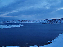 Howard Andrews sent this picture of a harbour in Greenland