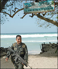 US marine on Jolo - archive picture