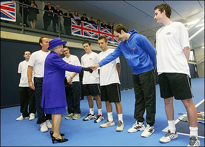 Greg Rusedski meets the Queen