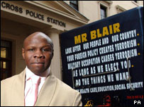 Chris Eubank standing beside his truck