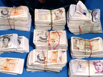Some of the cash which was confiscated by Customs