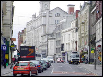 St Mary Street in Cardiff