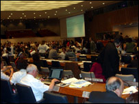 Photo of people negotiating the UN convention