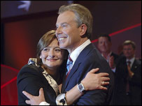Cherie and Tony Blair at 2006 Labour conference