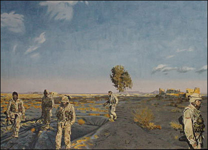 All Eyes Down, an oil painting by marine combat artist Michael Fay (Image courtesy of Michael Fay)
