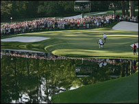 The 16th green at Augusta