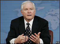 US Defense Secretary Robert Gates