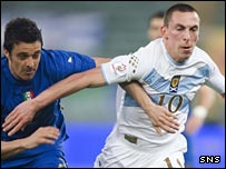 Scott Brown (right) in action against Italy