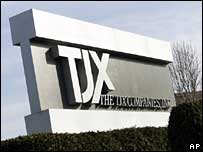 TJX sign at headquarters in Framingham, Ma