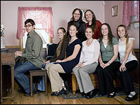 Louis Theroux with members of the Phelps family