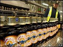 Bottles of S&N's Newcastle Brown Ale