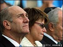 Israeli Prime Minister Ehud Olmert (left)