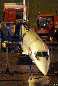 Concorde model being removed on Friday morning