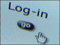 Log-in screen, BBC