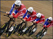 Great Britain's men's pursuit quartet