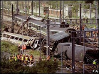 The train crash at Paddington