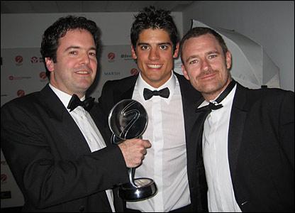 BBC Sport Interactive Editor Ben Gallop, England cricketer Alastair Cook and BBC Sport journalist and World Cup blogger Paul Fletcher