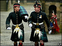 Soldiers in kilts