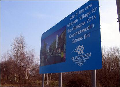 Proposed site of the Athlete's Village in Dalmarnock