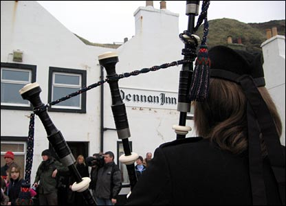 Piping during the attempt in Pennan