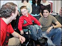Kieron meeting the University of Sheffield students