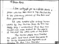 Faye Turney's third letter