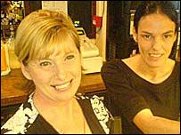 Pub owner Ellen Evans (left) and manager Sally Gilbert