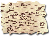 Mohammed Sidique Khan's birth certificate