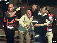 Aftermath of Netanya bombing - March 2002