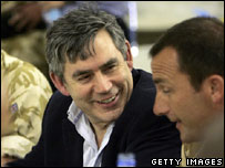 Chancellor Gordon Brown in Afghanistan