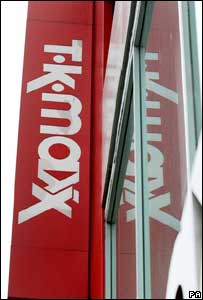 TK Maxx shop sign, PA