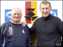 Partick caretaker boss Jimmy Bone and Terry Butcher