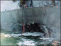 Damage to the USS Cole