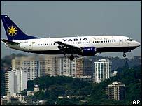 Brazilian airliner over Rio de Janeiro (archive picture)