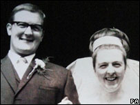 David Rees at his wedding to wife Pauline in 1968