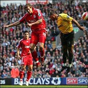 Daniel Agger scores Liverpool's third goal
