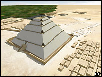 Jean-Pierre Houdin's 3D view of how the Great Pyramid was built