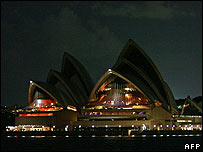 Sydney Opera House during Earth Hour