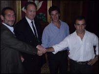Esteban Pino, Mike Seear, Juan Casanegra and German Estrada