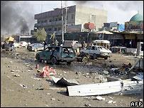 Aftermath of car bombs in Kirkuk - file photo