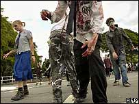 """Zombies"" shuffle through Brisbane, Australia"