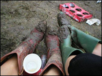 The state of our boots, Glastonbury 2005