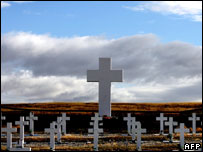 The Argentine war cemetery near Darwin, Falklands