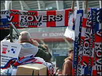Scarves outside the Millennium Stadium
