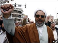 An anti-British protest in Tehran