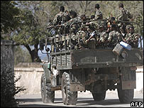 Ethiopian troops in Mogadishu