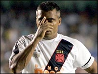 Brazilian football legend Romario in action for Vasco de Gama
