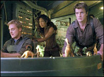 Alan Tudyk, Gina Torres and Nathan Fillion in Serenity