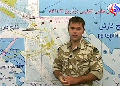 Royal Marine Capt Chris Air on Iranian television