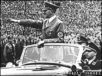Hitler at Nazi rally, 1938